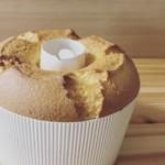 紙の型で焼いたプレゼント用の基本のシフォンケーキ