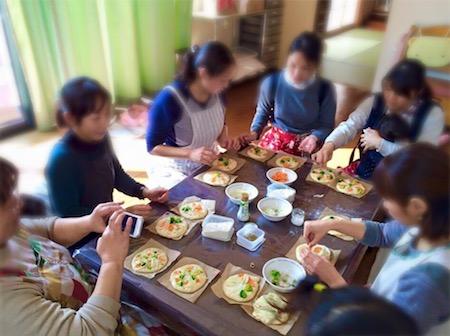 藤田助産院さんで開催したパン作り講座